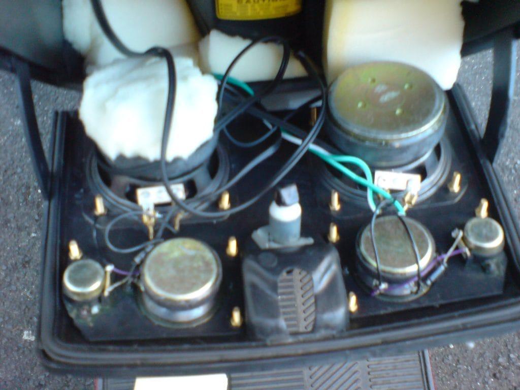 Stereoanlage Verstärker in Roller einbauen 7
