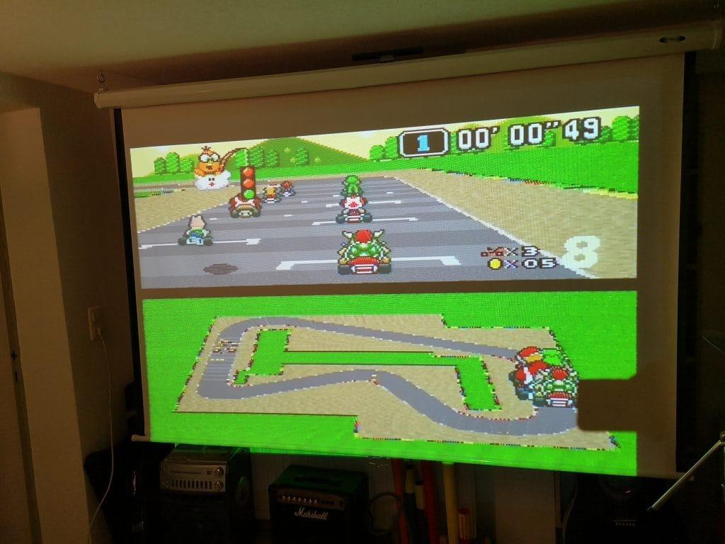 SNES Mario Kart Beamer