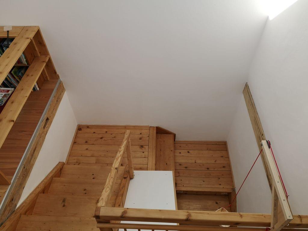 Alte Holztreppe restaurieren - Nachher