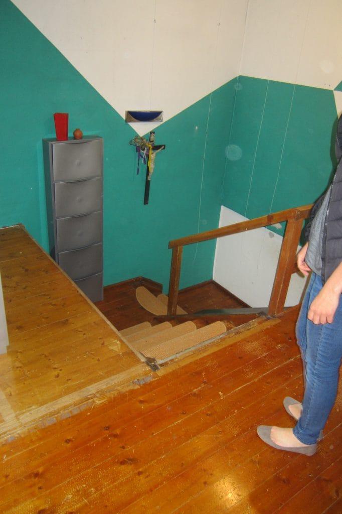 Alte Holztreppe restaurieren - Vorher